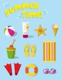 SUMMER STUFF. Vector icons for summer season Stock Photo
