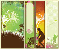 Summer Style Banner Set Royalty Free Stock Photography