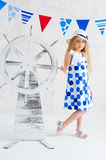 Summer style girl in fashion dress Stock Images