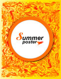Summer Stylish Art poster Stock Photo