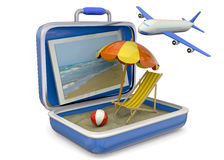 Summer in a Suitcase - 3D Stock Photography