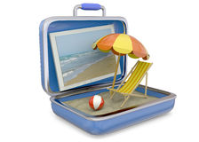 Summer in a Suitcase - 3D Stock Images