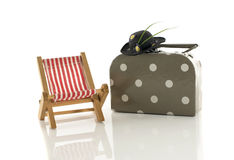 summer suitcase hat and chair Stock Image