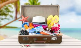 Summer suitcase Stock Photography