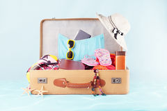 Summer suitcase Royalty Free Stock Photography