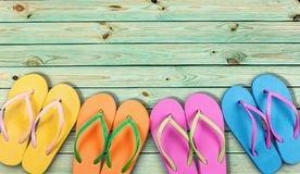 Summer. Beach flip-flop vacations travel destinations travel backgrounds Stock Image