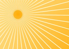 Summer sun. The hot summer sun background (vector, illustration Royalty Free Stock Photos