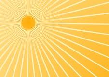 Summer sun. The hot summer sun background (vector, illustration royalty free illustration
