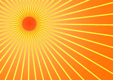 Summer sun. The hot summer sun background (vector, illustration Stock Photo