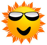 Summer sun. Smiling summer sun wearing sunglasses Royalty Free Stock Photography