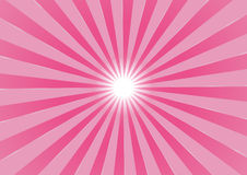 Summer sun. The hot summer sun - pink background (vector, illustration Stock Image