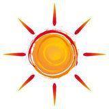 Summer sun. Exploding in warm colors Royalty Free Stock Photo
