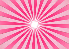 Summer sun. The hot summer sun - pink background (vector, illustration Royalty Free Stock Photos