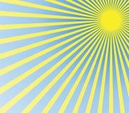 Summer sun. Really hot summer sun - illustration Royalty Free Stock Photo