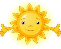 Summer Sun. Cartoon Character  of Cute Summer Sun Royalty Free Stock Photos