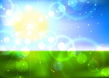 Summer sun background. Royalty Free Stock Photography
