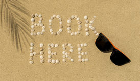 Summer, Sun, Beach - book here Royalty Free Stock Images