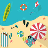 Summer. Sun. Beach. Summer Holidays. Summer beach holidays vacation freedom Royalty Free Stock Images