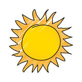 Summer sun drawing icon. Vector illustration design Royalty Free Stock Images