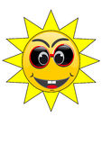Summer Sun Face Royalty Free Stock Photo