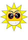 Summer Sun Face Royalty Free Stock Photos