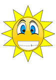 Summer Sun Face Stock Photography