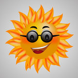 Summer Sun Face with sunglasses Vector Illustration eps 10 Stock Image