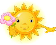 Summer Sun with flower Royalty Free Stock Photo