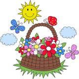 Summer sun flowers butterflies Royalty Free Stock Image
