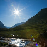 Summer sun in Glen Coe Royalty Free Stock Images