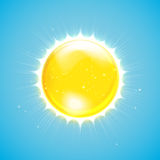 Summer sun icon. Vector illustration Royalty Free Stock Photography