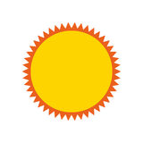 Summer sun isolated icon Royalty Free Stock Photo