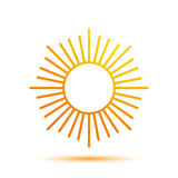 Summer Sun Logo Design Template Royalty Free Stock Photography