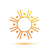 Summer Sun Logo Design Template Royalty Free Stock Photo