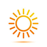 Summer Sun Logo Design Template Royalty Free Stock Photo