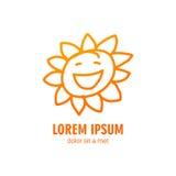Summer Sun Logo Design Template Royalty Free Stock Image