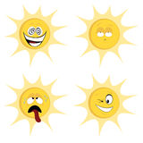 Summer sun mascots Stock Images