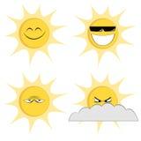 Summer sun mascots Royalty Free Stock Photos