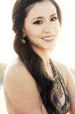 Summer sun ray flare beauty portrait Royalty Free Stock Photography