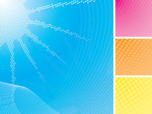 Summer Sun & Sea Abstract Backgrounds Set Stock Photo