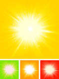 Summer Sun Starburst. Illustration of a collection of four abstract summer shiny starburst for Royalty Free Stock Images