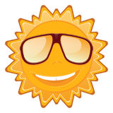 Summer sun in sunglasses and a smile. Vector Illustration Royalty Free Stock Photo
