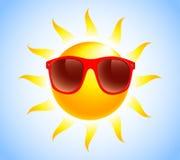 Summer sun sunglasses vector illustration Royalty Free Stock Photography