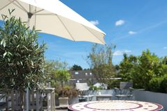 Summer on a sun terrace Royalty Free Stock Images
