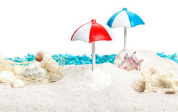 Summer, sun umbrellas, beach Stock Images