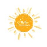 Summer sun vector. royalty free stock image