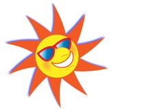 Summer Sun Wearing Sunglasses Stock Photo