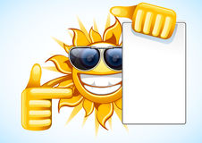Summer sun with white to-do list Stock Image