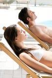Summer sunbath Stock Photo