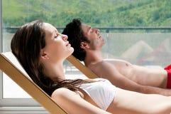 Summer sunbath Stock Photography